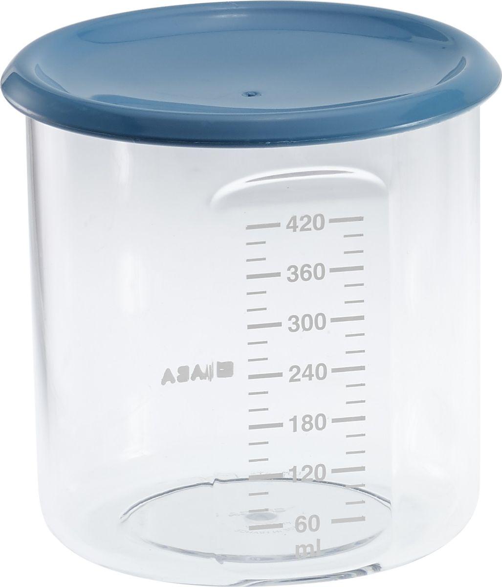 Beaba Контейнер для детского питания Maxi+Portion Tritan Blue 420 мл