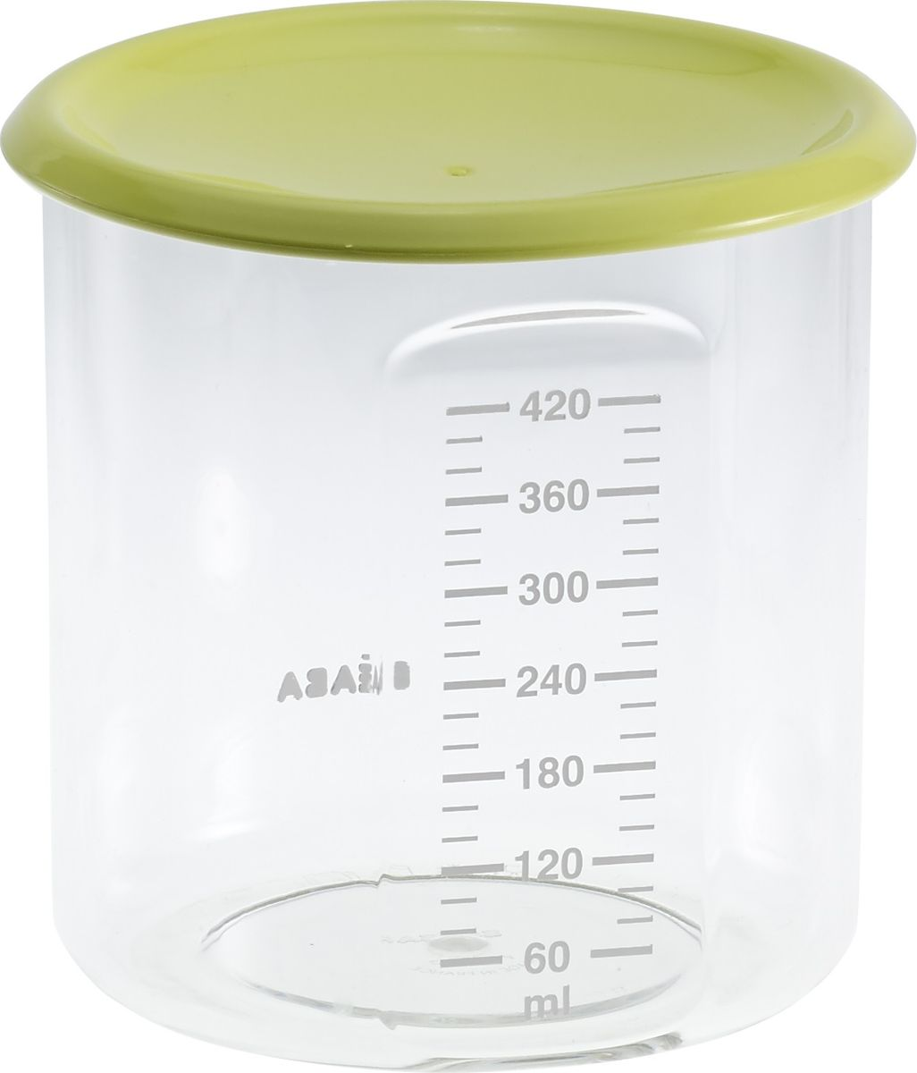 Beaba Контейнер для детского питания Maxi+Portion Tritan Neon 420 мл