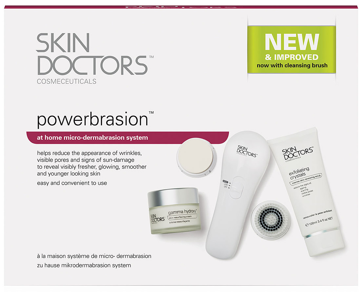 Skin Doctors Полная система для микродермабразии в домашних условиях PowerBrasion крем для лица skin doctors relaxaderm advance от морщин