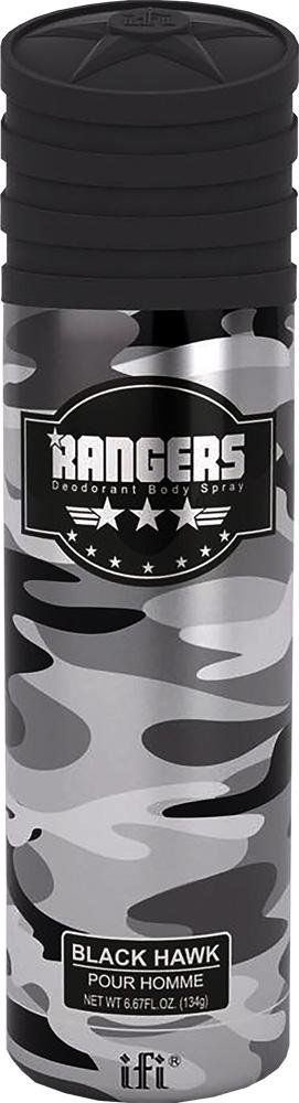 Rangers Дезодорант Black Hawk M Deo Spr, 200 млMU475/SАромат, демонстрирующий мужскую силу, строгость и тайну. Раскрывается нотами бергамота, ревеня и сливы. В сердце - прохладное сочетание лаванды и розмарина, подслащенное розовым яблоком. В завершении - уверенный древесно-амбровый аккорд.