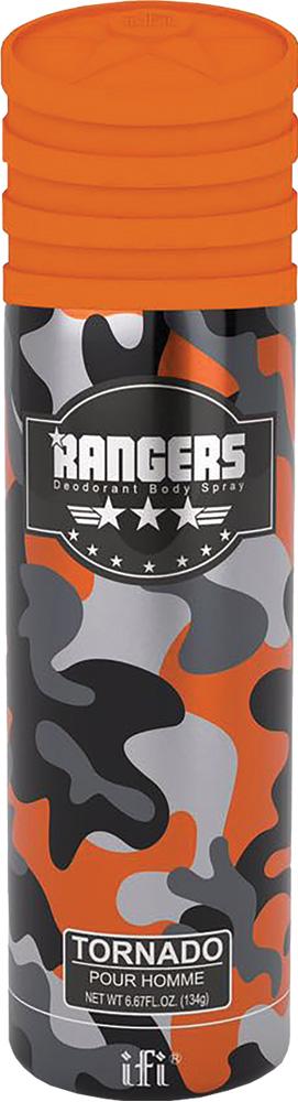 Rangers Дезодорант Tornado M Deo Spr, 200 мл214087Настоящий мужской аромат - чувственный и сильный. В яркой композиции смешаны свежие цитрусовые ноты и острые специи. База состоит из теплых древесных нот и ароматной кожи.