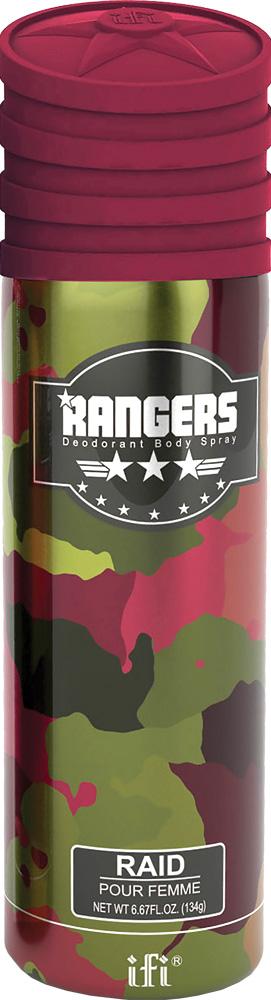 Rangers Дезодорант Raid W Deo Spr, 200 мл214095Ягодно-пряный розовый перец и тамаринд - верхушка букета. В загадочном сердце - роза, черная фиалка и какао. Завершается ароматная история древесно -амбровым аккордом с вкраплениями ванили.