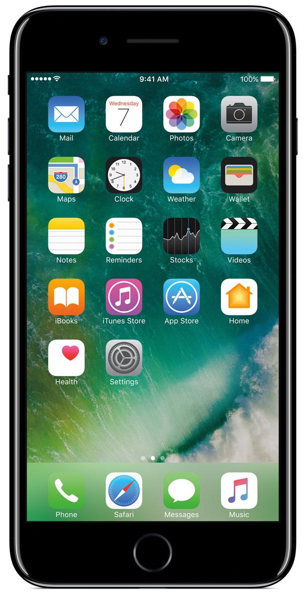Apple iPhone 7 Plus 32GB, Jet BlackMQU72RU/AiPhone 7 Plus оснащен передовыми камерами, которые позволяют делать невероятные снимки, увеличенной производительностью и самым долговечным аккумулятором среди всех iPhone, великолепными стереодинамиками, системой широкой цветопередачи от камеры к дисплею, доступны в двух новых великолепных цветах, а также впервые на iPhone - защита от воды и пыли. В iPhone 7 Plus встроена самая популярная в мире камера. Благодаря совершенно новым функциям она стала ещё лучше. 12-мегапиксельная камера в iPhone 7 Plus оснащена системой оптической стабилизации изображения, обладает расширенной диафрагмой f/1.8 и 6-элементным объективом для съёмки ещё более ярких и детальных фотографий и видео. Расширенный цветовой диапазон позволяет фиксировать яркие цвета во всех деталях. В iPhone 7 Plus встроена такая же 12-мегапиксельная широкоугольная камера, как в iPhone 7, а также камера с телеобъективом. Вместе они обеспечивают 2-кратный оптический зум и 10-кратный цифровой зум при съёмке фотографий.Позже в этом году обе 12-мегапиксельные камеры в iPhone 7 Plus станут поддерживать новый эффект глубины резкости при съёмке фотографий: сложная технология с системой машинного обучения будет отделять фон от переднего плана. Это позволит снимать великолепные портреты, которые прежде были доступны только пользователям зеркальных фотокамер.Другие усовершенствования камеры:Новый процессор обработки сигнала изображения, созданный Apple, обрабатывает более 100 миллиардов операций на одной фотографии всего за 25 миллисекунд. Это обеспечивает невероятное качество снимков и видео. Новая 7-мегапиксельная камера FaceTime HD обладает более широкой цветопередачей, передовой технологией пикселей и системой автоматической стабилизации изображения для съёмки отличных селфи.Новая вспышка True Tone Quad-LED на 50% ярче, чем на iPhone 6s. Она оснащена передовой матрицей, которая распознаёт и сглаживает блики на видеозаписях и фотографиях.Работает дольше и эффективнее:Работу 