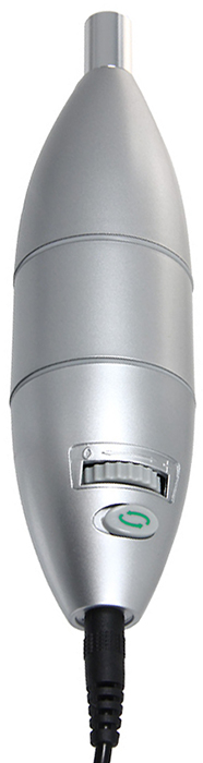 Аппарат для маникюра и педикюра Medisana Medistyle S85120Высококачественный набор Medisana Medistyle S для маникюра и педикюра с сапфировыми насадками. Позволяет проводить комплексный, профессиональный уход за ногтями и кожей рук и ног. Быстрая и полная процедура маникюра и педикюра без риска повреждения кожи или ногтя. Удаление затвердевшей кожи, наростов и мозолей. К набору прилагаются 4 насадки: заостренная фреза, диск, сапфировый и фетровый конус. Имеется переключатель вращения вправо или влево. Регулируется скорость вращения. Также есть подсветка со светодиодом, который автоматически загорается при включении прибора и освещает рабочую поверхность насадки. Набор упакован в чехол на застежке-молнии.Аппарат работает только от сетевого адаптера 18 Вольт, 250мА, к сети 220-240 Вольт, 50 Гц. Характеристики:Материал: пластик, металл, текстиль. Размер аппарата: 14,5 см х 4 см х 4 см.Размер чехла: 20 см х 13 см х 5,5 см.Скорость вращения: около 1600-5800 об/мин.Производитель: Германия. Артикул: 85120.Товар сертифицирован.