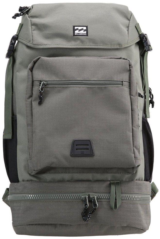 Рюкзак Billabong Alpine Pack, цвет: темно-зеленый, оливковый, 37 лF5BP08Оригинальный рюкзак Billabong Alpine Pack, создан в лучших традициях классических альпинистских рюкзаков. Рюкзак создан для тех, кто предпочитает путешествовать налегке и не любит тратить время на ожидание чемодана в зоне прилета. Рюкзак снабжен удобным верхним клапаном, защищающим вещи от попадания влаги. Вместительный внутренний отсек снабжен мягким карманом для ноутбука, а дополнительный отсек в дне рюкзака с внешним доступом позволит добавить порядка при переноске вещей. Внешний карман-органайзер с легкостью вместит необходимые мелочи, а в боковых карманах удобно носить бутылку с водой или, например, зонтик.Особенности:Основной отсек на молнии дополнительно закрывается клапаном.Отсек для ноутбука внутри основного отделения.Отсек в дне рюкзака на молнии с внешним доступом.Усиленное дно рюкзака.Эргономичные мягкие лямки и спинка.Боковые сетчатые карманы.Внешний карман-органайзер на молнии.Небольшой внешний карман на молнии.Нашивка с фирменным логотипом на внешнем кармане.Ручка для переноски.