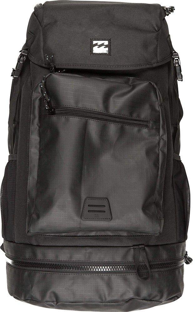 Рюкзак Billabong Alpine Pack, цвет: черный, 37 лF5BP08Оригинальный рюкзак Billabong Alpine Pack, создан в лучших традициях классических альпинистских рюкзаков. Рюкзак создан для тех, кто предпочитает путешествовать налегке и не любит тратить время на ожидание чемодана в зоне прилета. Рюкзак снабжен удобным верхним клапаном, защищающим вещи от попадания влаги. Вместительный внутренний отсек снабжен мягким карманом для ноутбука, а дополнительный отсек в дне рюкзака с внешним доступом позволит добавить порядка при переноске вещей. Внешний карман-органайзер с легкостью вместит необходимые мелочи, а в боковых карманах удобно носить бутылку с водой или, например, зонтик.Особенности:Основной отсек на молнии дополнительно закрывается клапаном.Отсек для ноутбука внутри основного отделения.Отсек в дне рюкзака на молнии с внешним доступом.Усиленное дно рюкзака.Эргономичные мягкие лямки и спинка.Боковые сетчатые карманы.Внешний карман-органайзер на молнии.Небольшой внешний карман на молнии.Нашивка с фирменным логотипом на внешнем кармане.Ручка для переноски.