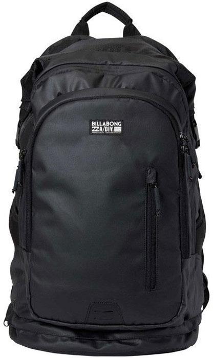 Рюкзак Billabong Surftrek Pack, цвет: черный, 35 лF5BP10Инновационный и функциональный рюкзак, который разработан специально для серфинга. Прилагается дополнительная сумка для аксессуаров: воска и плавников. Есть специальный отсек для ноутбука. Вместимость рюкзака 35 литров, вы можете упаковать в него большое полотенце, гидрокостюм, фотоаппарат, сменную одежду и куртку.