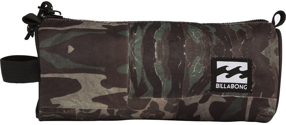 Пенал Billabong Barrel Pencil Case, цвет: коричневый, бежевый, зеленый. F5PE01F5PE01Небольшая вместительная сумка, готовая стать как пеналом для карандашей, так и функциональной дамской косметичкой.