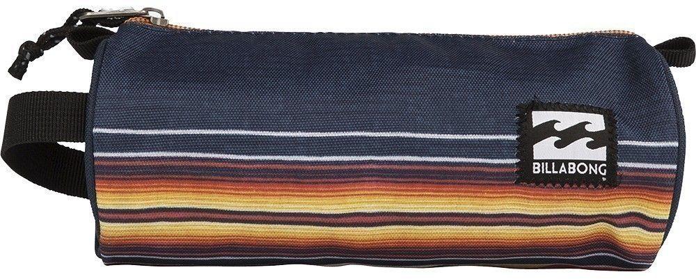 Пенал Billabong Barrel Pencil Case, цвет: синий, оранжевый, белый. F5PE01F5PE01Небольшая вместительная сумка, готовая стать как пеналом для карандашей, так и функциональной дамской косметичкой.