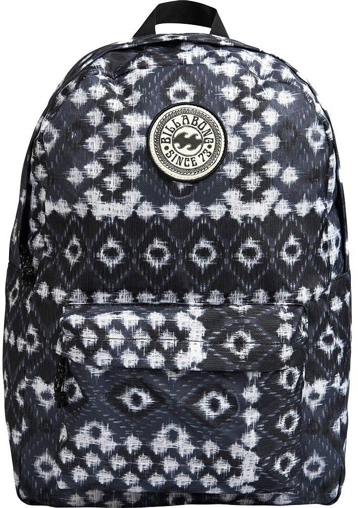 Рюкзак женский Billabong All Day Women, цвет: черный, белый, 20 л рюкзак городской billabong all day pack цвет черный серый