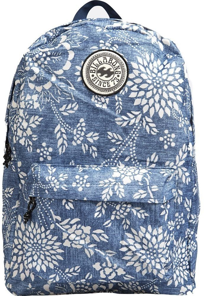 Рюкзак женский Billabong All Day Women, цвет: синий, белый, 20 лF9BP01Стильный городской рюкзак Billabong All Day Women с минималистичным дизайном. Благодаря многообразию расцветок вы легко сможете подобрать модель, идеально сочетающуюся с вашим повседневным гардеробом. Особенности: Объемное внутреннее отделение. Вместительный внешний карман. Регулируемые плечевые лямки. Круглый логотип Billabong на фронтальной части.