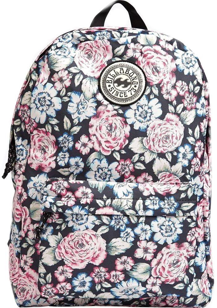Рюкзак женский Billabong All Day Women, цвет: черный, розовый, синий, 20 лF9BP01Стильный городской рюкзак Billabong All Day Women с минималистичным дизайном. Благодаря многообразию расцветок вы легко сможете подобрать модель, идеально сочетающуюся с вашим повседневным гардеробом. Особенности: Объемное внутреннее отделение. Вместительный внешний карман. Регулируемые плечевые лямки. Круглый логотип Billabong на фронтальной части.