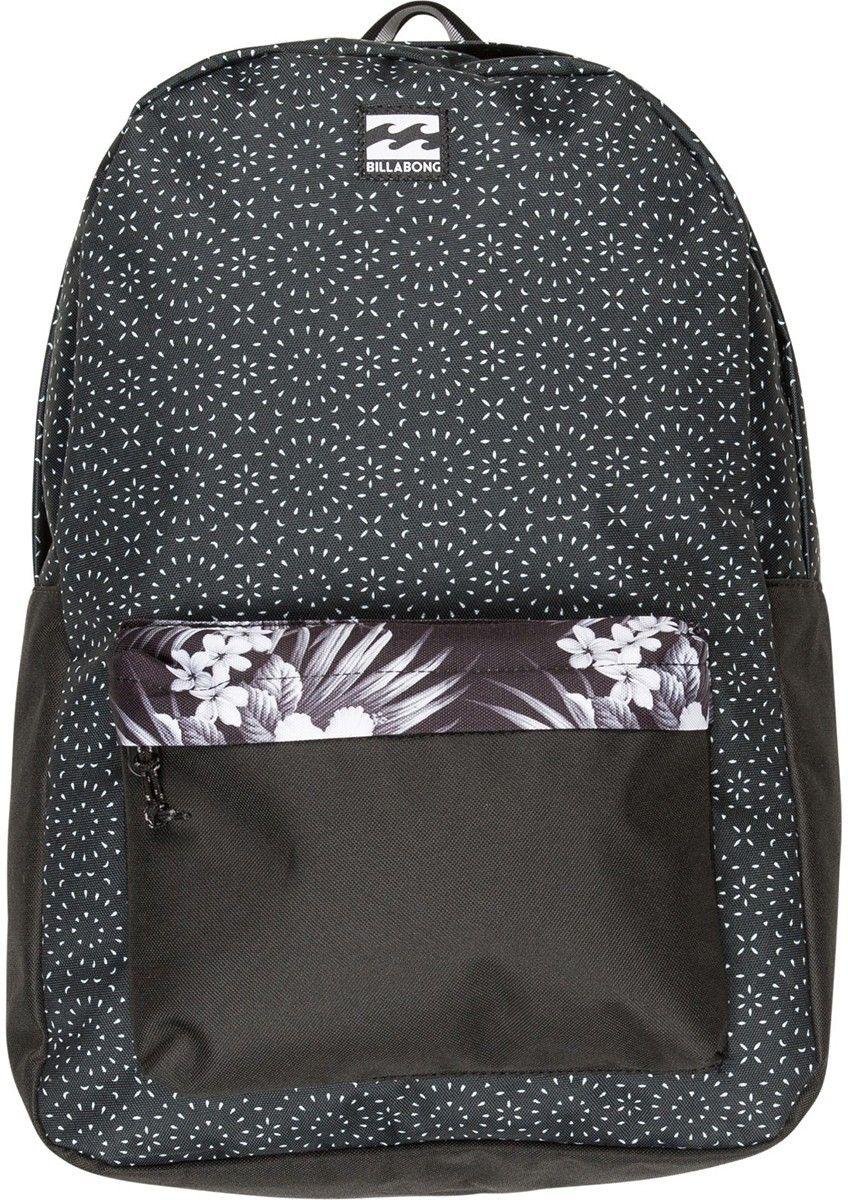 Рюкзак Billabong All Day Pack, цвет: черный, белый, серый, 20 лF5BP01Практичный рюкзак Billabong All Day Pack, который станет вашим верным спутником в городских прогулках. Его объем позволит вместить множество вещей, необходимых в течение дня, а внешний карман поможет держать самые нужные мелочи в быстром доступе. Высококачественный материал гарантирует долговечность и сохранение свежего внешнего вида, а оригинальные цветовые решения делают этот рюкзак еще и прекрасным дополнением вашего образа. Особенности: Вместительное основное отделение. Внешний карман на молнии. Регулируемые эргономичные лямки. Мягкая спинка. Удобная петля для переноски. Нашивка с фирменным логотипом Billabong.