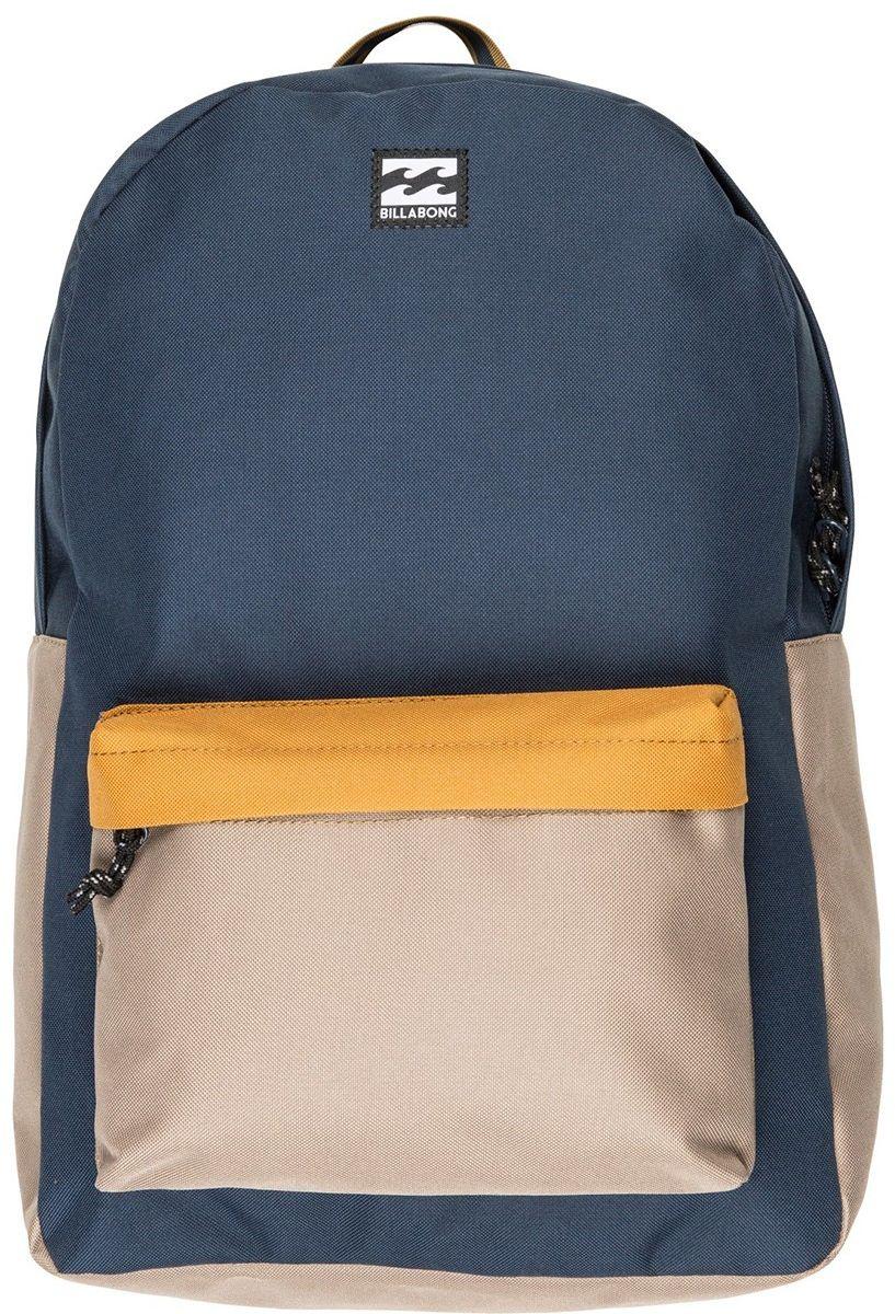 Рюкзак Billabong All Day Pack, цвет: темно-синий, бежевый, оранжевый, 20 л
