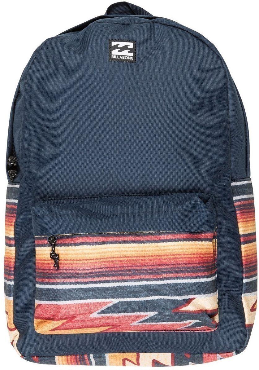 Рюкзак Billabong All Day Pack, цвет: темно-синий, оранжевый, белый, 20 л. F5BP01F5BP01Практичный рюкзак, который станет вашим верным спутником в городских прогулках. Его объем позволит вместить множество вещей, необходимых в течение дня, а внешний карман поможет держать самые нужные мелочи в быстром доступе. Высококачественный материал гарантирует долговечность и сохранение свежего внешнего вида, а оригинальные цветовые решения делают этот рюкзак ещё и прекрасным дополнением Вашего образа.