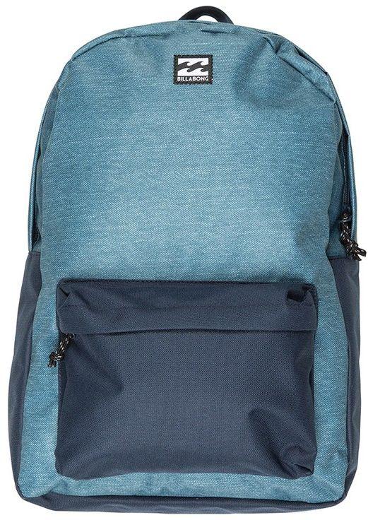 Рюкзак Billabong All Day Pack, цвет: темно-синий, голубой, 20 л. F5BP01F5BP01Практичный рюкзак, который станет вашим верным спутником в городских прогулках. Его объем позволит вместить множество вещей, необходимых в течение дня, а внешний карман поможет держать самые нужные мелочи в быстром доступе. Высококачественный материал гарантирует долговечность и сохранение свежего внешнего вида, а оригинальные цветовые решения делают этот рюкзак ещё и прекрасным дополнением Вашего образа.