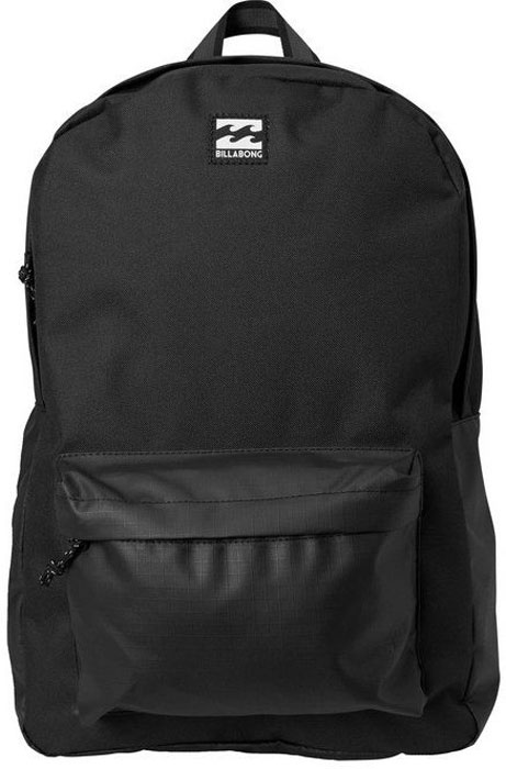 Рюкзак Billabong All Day Pack, цвет: черный, 20 лF5BP01Практичный рюкзак Billabong All Day Pack, который станет вашим верным спутником в городских прогулках. Его объем позволит вместить множество вещей, необходимых в течение дня, а внешний карман поможет держать самые нужные мелочи в быстром доступе. Высококачественный материал гарантирует долговечность и сохранение свежего внешнего вида, а оригинальные цветовые решения делают этот рюкзак еще и прекрасным дополнением вашего образа. Особенности: Вместительное основное отделение. Внешний карман на молнии. Регулируемые эргономичные лямки. Мягкая спинка. Удобная петля для переноски. Нашивка с фирменным логотипом Billabong.