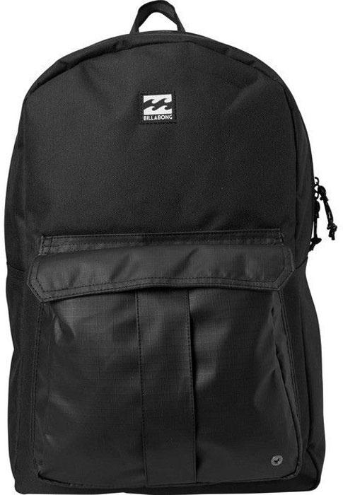 Рюкзак Billabong Traveler Pack, цвет: черный, 32 лF5BP06Минималистичный дизайн, а внутри предусмотрен специальный карман для ноутбука. Особенности: Вместительный основной отсек.Мягкий отсек для ноутбука.Внешний карман.Ручка для переноски.Мягкие регулируемые лямки.