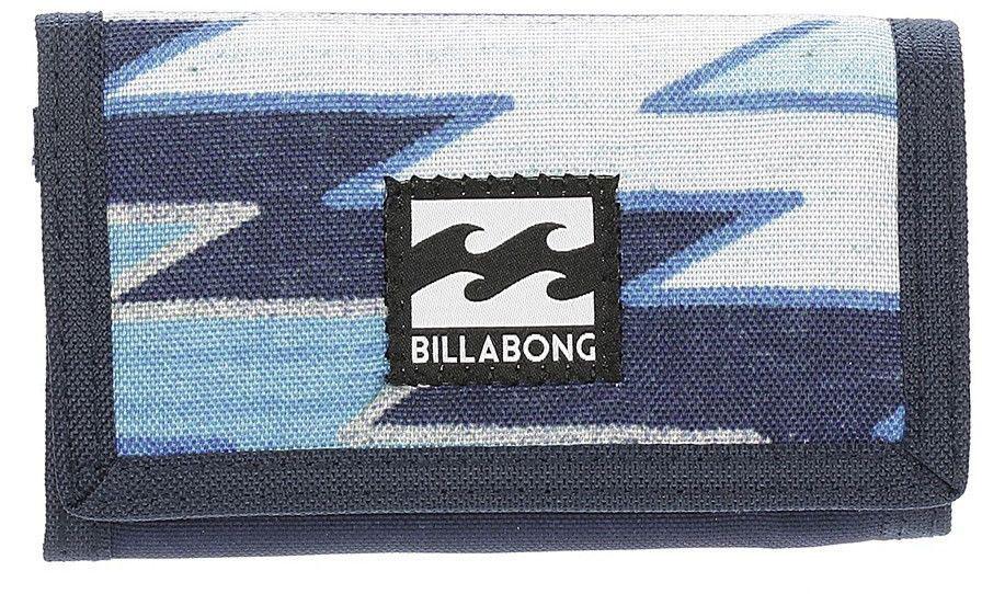 Кошелек Billabong Atom Wallet, цвет: темно-синий, голубой, белыйF5WL01Компактный кошелекBillabong Atom Wallet, который вмещает в себя все необходимое.Классический тряпичный кошелек на липучке Billabong Atom Wallet изготовлен из полиэстера.Кошелек имеет трех-секционный дизайн, оснащен отделением для купюр и карманом для мелочи на застежке-молнии, а также слотами для карт.Длина кошелька: 13 см.Ширина кошелька: 8 см.