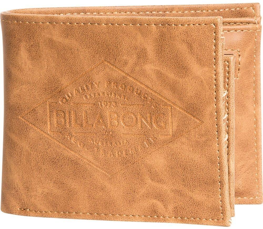 Кошелек Billabong Bronson, цвет: бежевыйF5WM08Вместительный бумажник двойного сложения с ярким дизайном. Внутри основное отделение для купюр, двойной кардхолдер и кармашек для монет на молнии.