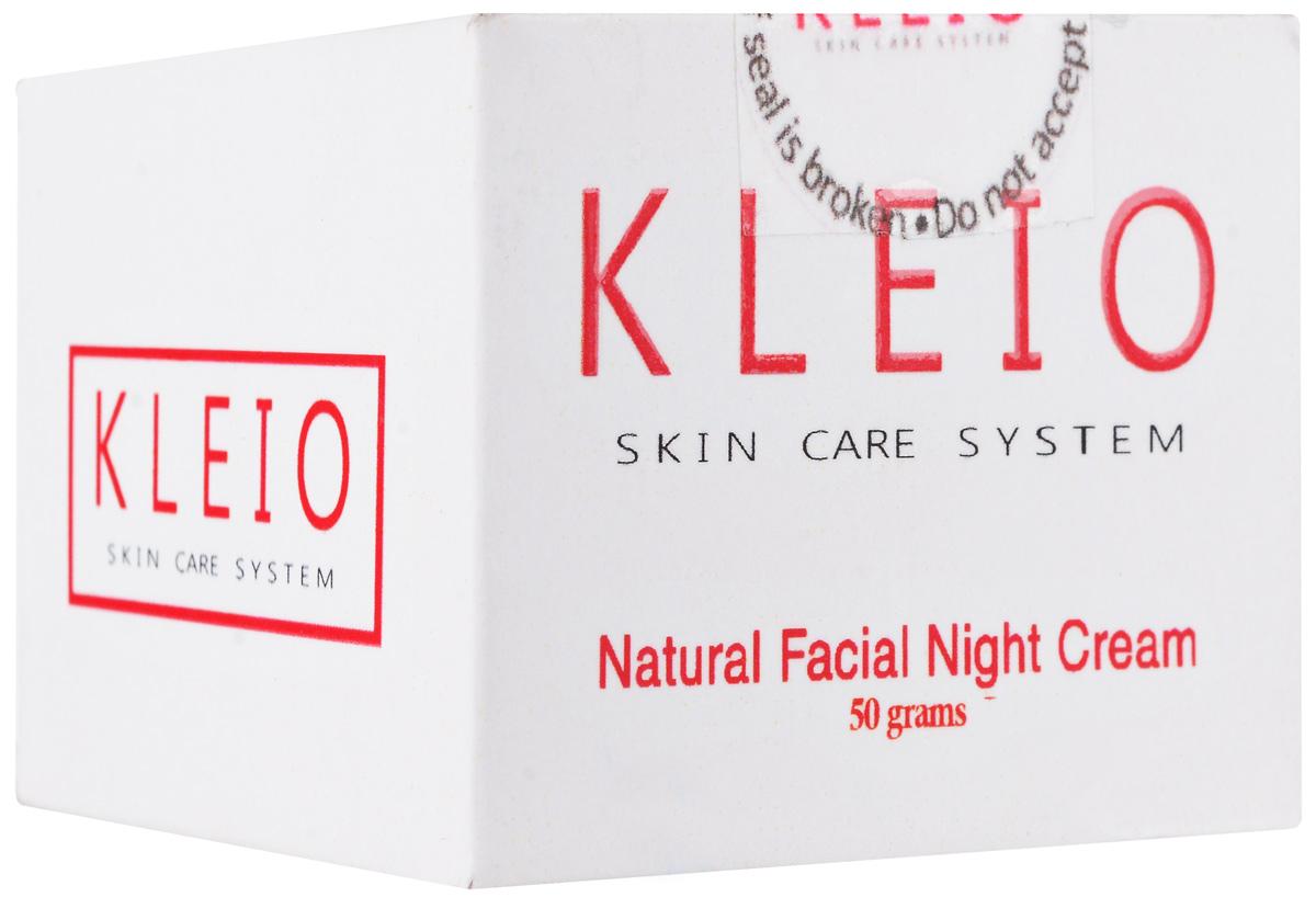 Kleio Натуральный ночной крем для лица Skin Care System Natural Facial Night Cream, 50 гK01100050Ночной крем для лица применяется для всех типов кожи лица, а также для проблемной и чувствительной кожи с морщинами; превосходно смягчает, увлажняет в течение длительного периода времени, питает и быстро восстанавливает кожу, снимая накопившуюся усталость, стресс и раздражение; сохраняет естественную увлажненность и обеспечивает влагу в растущих клетках кожи, придает коже лица яркость и разглаживает ее, выравнивая текстуру и избавляя от морщин; оказывает заметное терапевтическое воздействие (замечательно избавляет от акне); содержатся натуральные природные соли и минералы Мертвого моря и полисахариды семян сенны александрийской.