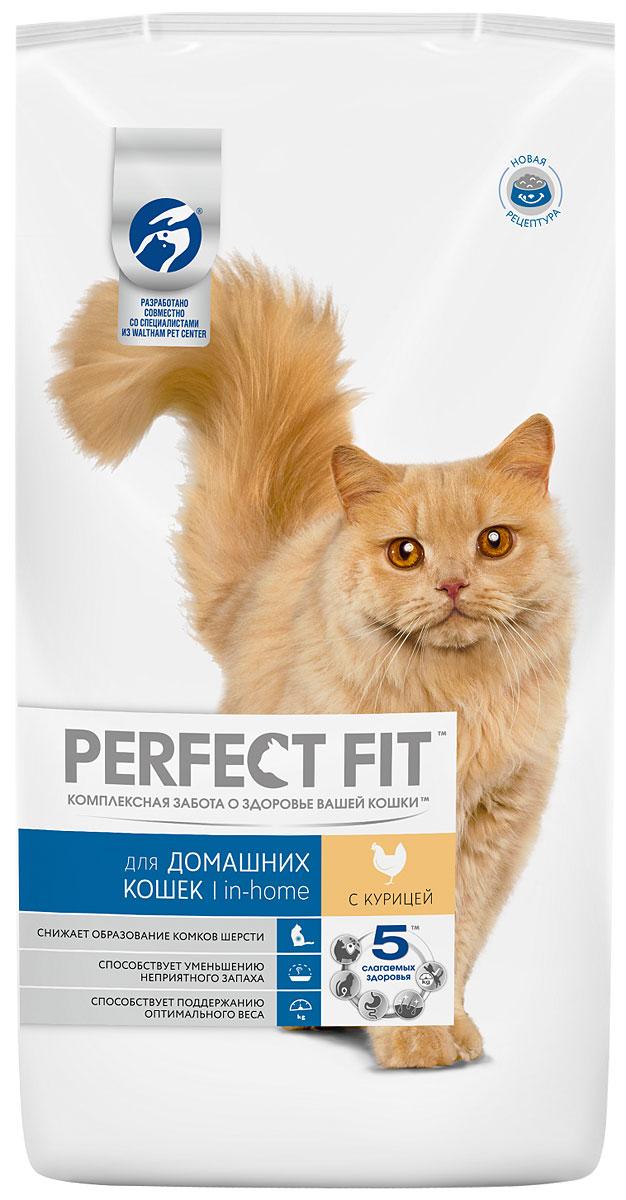 Корм сухой Perfect Fit In-Home для домашних кошек, с курицей, 3 кг29016Сухой корм Perfect Fit In-Home создан специально для поддержания жизненного тонуса и хорошего самочувствия домашних лежебок. Особенности сухого корма Perfect Fit:- содержит натуральную клетчатку, помогающую контролировать образование комочков шерсти в организме кошки;- специальная рецептура позволяет снизить потребление калорий в каждом кормлении;- способствует поддержанию здоровой кожи и блестящей шерсти благодаря содержанию биотина, цинка и омега-6 кислот;- содержит экстракт Юкки Шидигера, помогающий уменьшить запах кошачьего туалета;- не содержит ароматизаторов, красителей и консервантов. Состав: высушенная мука из птицы (включая 22% курицы), кукурузный белок, высушенный животный белок, кукуруза, кукурузная мука, животный жир, рис, целлюлоза, высушенная печень, сухая свекла, дрожжи, хлорид калия, рыбий жир, экстракт юкки. Пищевая ценность в 100 г: белки - 41 г, жиры - 14,5 г, зола - 8 г, клетчатка - 3,5 г, кальций - 1,2 г, фосфор - 1,0 г, жирные кислоты (омега 3) - 0,4 г, жирные кислоты (омега 6) - 3,3 г, биотин (В7) - 0,02 мг, таурин - 194,5 г, витамин А - 1751 МЕ, витамин D3 - 181 МЕ, витамин Е - 84,5 мг, витамин С - 39 мг, витамины группы В, сульфат цинка - 13,5 мг.Энергетическая ценность в 100 г: 402 ккал.Вес: 3 кг.Товар сертифицирован. Perfect Fit - высококачественное сухое питание, специально разработанное для здоровья кошек, в соответствии с потребностями организма.Уважаемые клиенты!Обращаем ваше внимание на возможные изменения в дизайне упаковки. Качественные характеристики товара остаются неизменными. Поставка осуществляется в зависимости от наличия на складе.