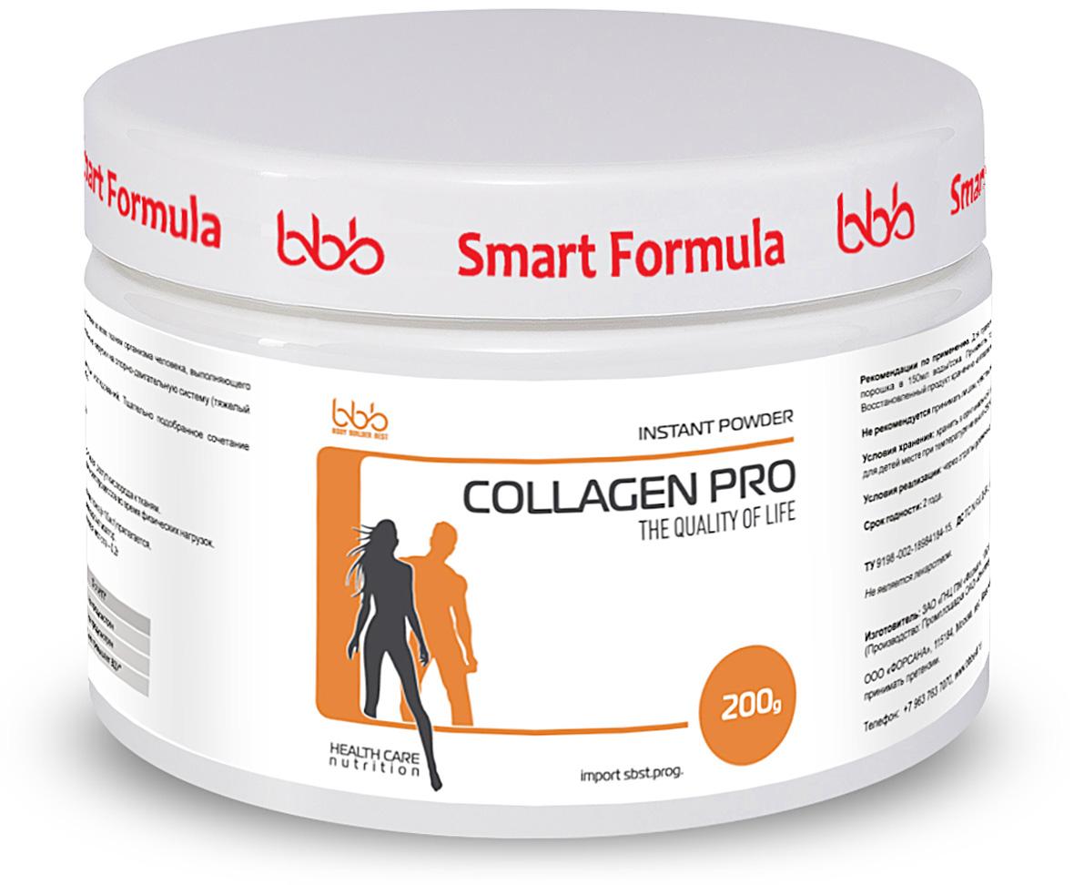 Витаминно-минеральный комплекс bbb Collagen Pro, апельсин, 200 г105260bbb Collagen Pro - дополнительный источник коллагена - структурного белка, присутствующего практически во всех тканях организма человека, выполняющего функцию соединения клеток для обеспечения прочности костей, связок и хрящей. Коллаген относится к числу необходимых пищевых добавок, особенно для лиц, практикующих дополнительные нагрузки на опорно-двигательную систему (тяжелый физический труд, тяжелые силовые тренировки).Продукт разработан базе Института Инженерной Иммунологии, РФ на основе современных научных исследований. Тщательно подобранное сочетание компонентов и их соотношение обеспечивают, наряду с безопасностью применения, следующие эффекты: - Быстрое включение коллагена в обменные процессы,- Торможение дегенеративных процессов в хрящевых и сухожильных тканях всех суставов, позвоночника, - Поддержание кожи, волос, ногтей в эстетичной форме. Рекомендации по применению: для приготовления 1 порции продукта надо развести 2 мерные ложки порошка в 150мл воды/сока. Принимать по 1 порции ежедневно перед едой не менее 4-6 недель. Состав: коллаген гидролизат, декстроза, аскорбиновая кислота. Товар сертифицирован.Как повысить эффективность тренировок с помощью спортивного питания? Статья OZON Гид