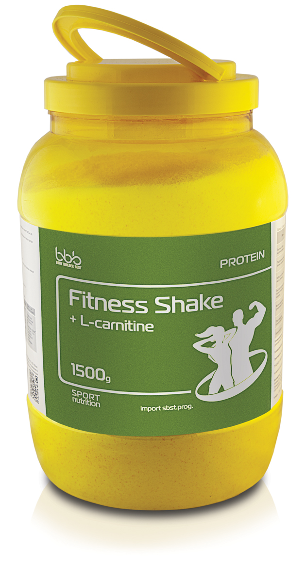Протеин bbb Fitness Shake + L-carnitine, печенье, сливки, 1,5 кг105277Fitness Shake Protein + L-carnitine - дополнительный источник легкодоступного сывороточного белка, фактора метаболического процесса L- карнитина и энергии.В сочетании с различными режимами нагрузок продукт используется для:-эффективного уменьшения объема жировой ткани тела;-повышения работоспособности и выносливости организма.Рекомендации по применению: для приготовления одной порции коктейля надо 1 порцию (40 г или 2 мерные ложки объемом по 60 мл) сухогопорошка размешать в 250-300 мл нежирного молока или воды, взбить в шейкере до однородной массы и употребить в соответствии с целями.Восстановленный продукт хранению не подлежит (употребить немедленно после приготовления). При разведении в молоке пищевая иэнергетическая ценность увеличивается. Состав: сывороточный белок - 28 г, мальтодекстрин - 4,52 г, L-карнитин - 0,4 г. Как повысить эффективность тренировок с помощьюспортивного питания? Статья OZON Гид
