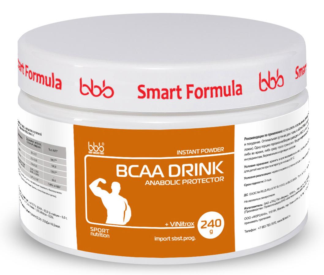 """Аминокислотный комплекс bbb """"BCAA Drink"""", апельсин, 240 г"""