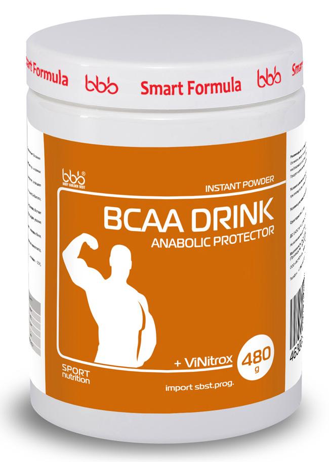 """Аминокислотный комплекс bbb """"BCAA Drink"""", черная смородина, 480 г, bbb (BODY BUILDER BEST)"""