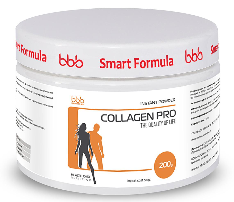 """Витаминно-минеральный комплекс bbb """"Collagen Pro"""", клубника, 200 г, bbb (BODY BUILDER BEST)"""