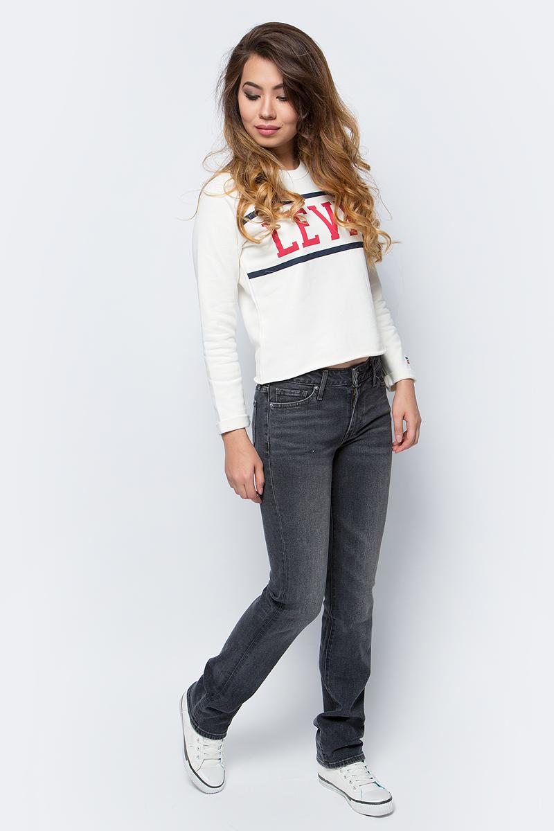 Джинсы женские Levis® 714, цвет: серый. 2183400480. Размер 29-32 (46-32)2183400480Джинсы с облегающей посадкой и прямыми штанинами формируют красивый силуэт. Эта классическая модель позволяет создать множество различных образов.