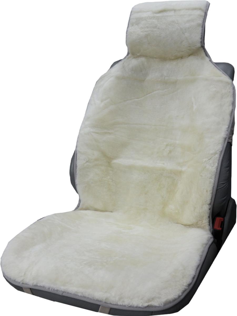 Накидка на сиденье Trokot, универсальная, цвет: белый, 142 х 57 х 2,5 смTR1524-50Меховая накидка на сиденье из натуральной овчины (Класс А - цельная шкура), станет прекрасным дополнением к интерьеру вашей машины. Меховые накидки из овечьих шкур являются прекрасным теплоизолятором, так как структура шерсти обеспечивает наличие в накидке плотного слоя воздуха, и поэтому накидки из овечьих шкур заботливо и эффективно защищают тело человека как от холода, так и от жары. В знойную погоду ваша одежда не будет прилипать к кожаным сидениям автомобиля, а в мороз вы будете чувствовать себя комфортно и вам не надо будет ждать пока сидение нагреется, вы сразу же погрузитесь в атмосферу тепла и уюта. А, согласитесь, в мороз ожидание, пусть даже в течение нескольких минут, пока сидение нагреется может надолго испортить настроение. В жару же салон вашего автомобиля, украшенного накидками из натурального меха, никогда не станет раскаленным. Следовательно, меховые накидки - это универсальная, всесезонная одежда для вашего автомобиля или офисного кресла. (Универсальный размер, подходит ко всем сиденьям)