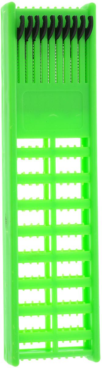 Мотовило для проводов AGP, с пружиной, цвет: зеленый, 21,5 х 6 х 1,3 см мотовило agp для поводков с пружиной цвет желтый