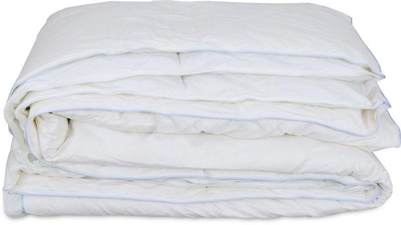 Одеяло Revery Duett, наполнитель: пух, цвет: белый, 172 см х 205 смOD.172*205.DUETTЛегкое димесезонное одеяло Duett обеспечит максимум комфорта во время сна. Натуральные материалы и современные технологии создадут все необходимые условия для полноценного и здорового отдыха в течение всей ночи, чтобы вы встретили утро свежими и отдохнувшими. Комбинация материалов наполнителя придает этому одеялу особенную нежность, а благодаря созданию естественной терморегуляции и воздухообмена, гарантирует оптимальный микроклимат. Гигроскопичный чехол выполнен из 100% хлопка батиста, шелковистого на ощупь.