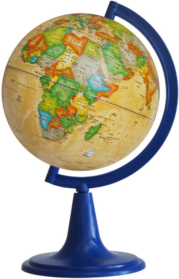 Глобусный мир Глобус с политической картой мира, рельефный, диаметр 15 см