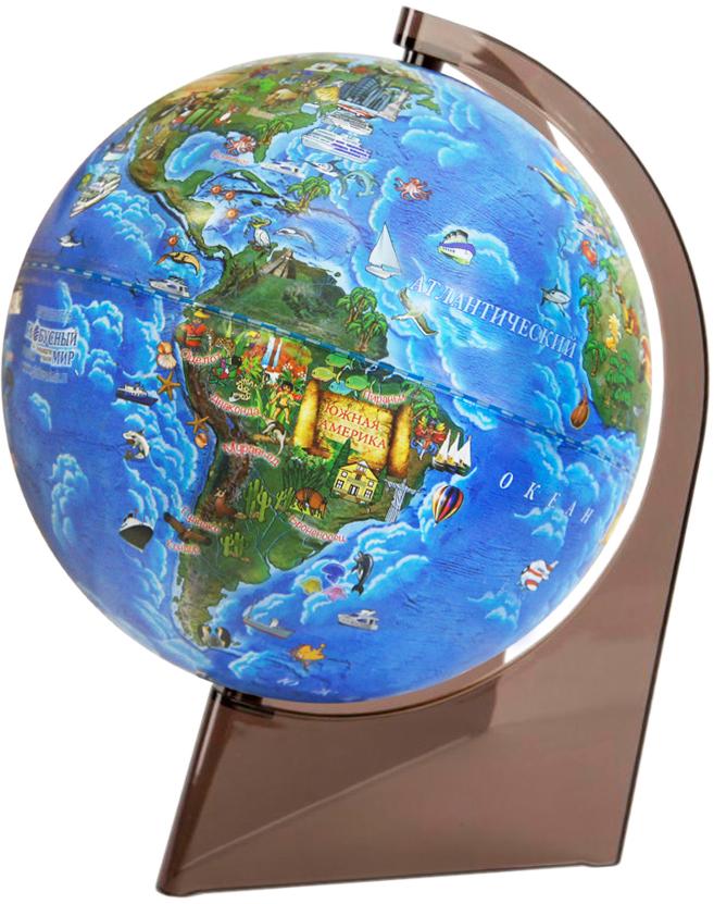 Глобус Земли для детей диаметр 210 мм на треугольной подставке10291