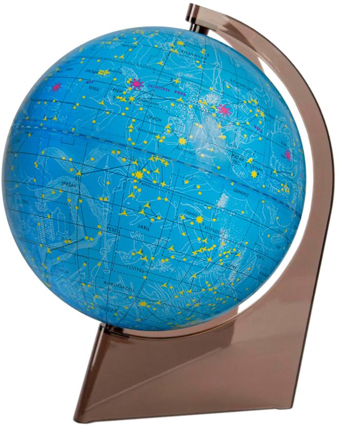 Глобусный мир Глобус звездного неба, диаметр 21 см10295Глобус звездного неба Глобусный мир, изготовленный из высококачественного прочного пластика.Даннаямодель предназначена для ознакомления с космосом, звездами и созвездиями. На нем нанесены те же круги, чтои на картах звёздного неба, - небесные параллели, меридианы, экватор и эклиптика. Такой глобус станетпрекрасным подарком и учебным материалом для дальнейшего изучения астрономии. Помимо этого глобусобладает приятной цветовой гаммой. Изделие расположено на треугольной подставке.Настольный глобусзвездного неба Глобусный мир станет оригинальным украшением рабочего стола или вашего кабинета. Этоизысканная вещь для стильного интерьера, которая станет прекрасным подарком для современногопреуспевающего человека, следующего последним тенденциям моды и стремящегося к элегантности и комфорту вкаждой детали.Масштаб: 1:60 000 000.
