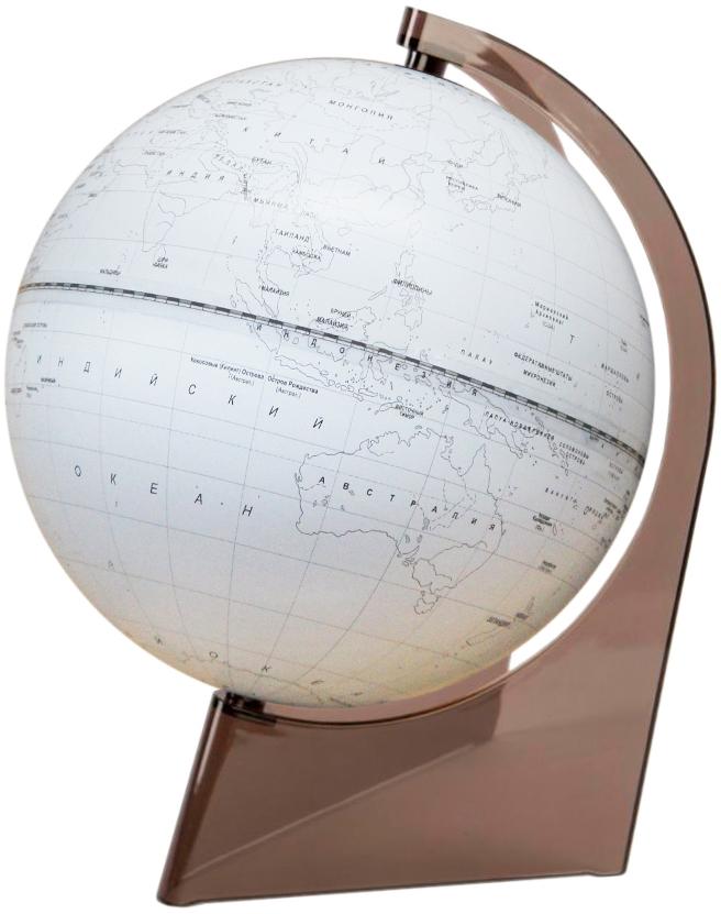 Глобусный мир Глобус Земли, контурный, диаметр 21 см10293Глобус Земли Глобусный мир, изготовленный из высококачественного прочного пластика.Контурный глобус - это отличная возможность для ребенка проверить свои знания по географии, в том числе политической. Карта выполнена в виде контуров материков с названиями государств и их столиц, океанов и островов. Его можно использовать в игровой форме. С помощью этого глобуса можно тренировать память. Изделие расположено на треугольной подставке. Названия стран на глобусе приведены на русской язык. Настольный контурный глобус Земли Глобусный мир станет оригинальным украшением рабочего стола или вашего кабинета. Это изысканная вещь станет прекрасным подарком для современного преуспевающего человека, следующего последним тенденциям моды и стремящегося к элегантности и комфорту в каждой детали.Масштаб: 1:60 000 000.