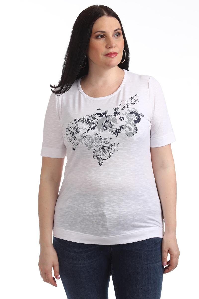 Блузка женская Averi, цвет: белый. 1376_006. Размер 64 (68) блузка женская averi цвет зеленый 1430 размер 64 68