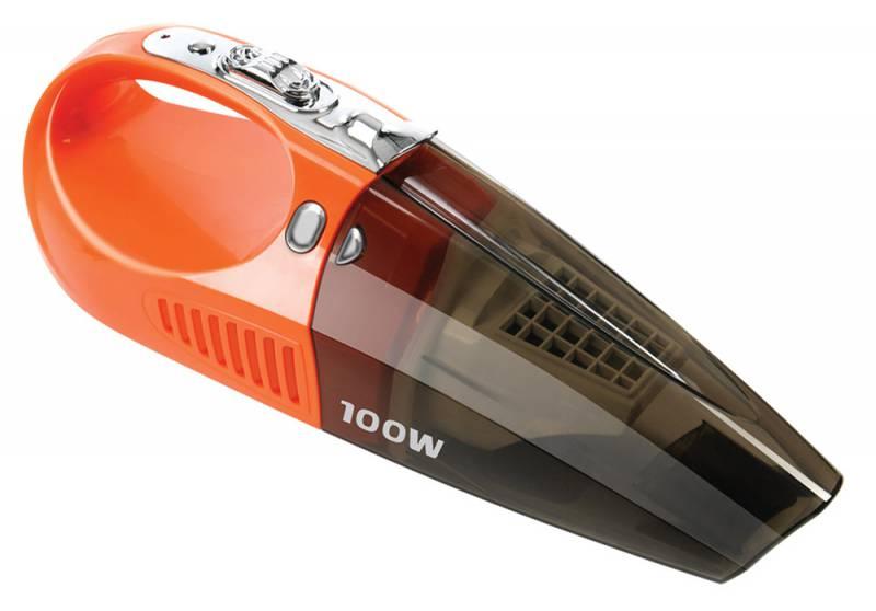 Пылесос автомобильный Starwind CV-110, цвет: оранжевый479023Сухая уборка, 100Вт, питание 12-14В, ток 10А, пылесборник 0.7л, уровень шума <84дБ, длина кабеля 4м