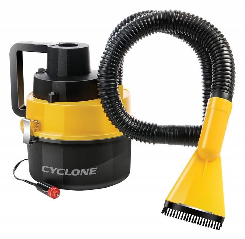Пылесос автомобильный Starwind CV-120, цвет: черный, желтый479024Сухая/влажная уборка, 93Вт, питание 12-14В, ток 8А, пылесборник 1.5л, уровень шума <84дБ, длина кабеля 3м