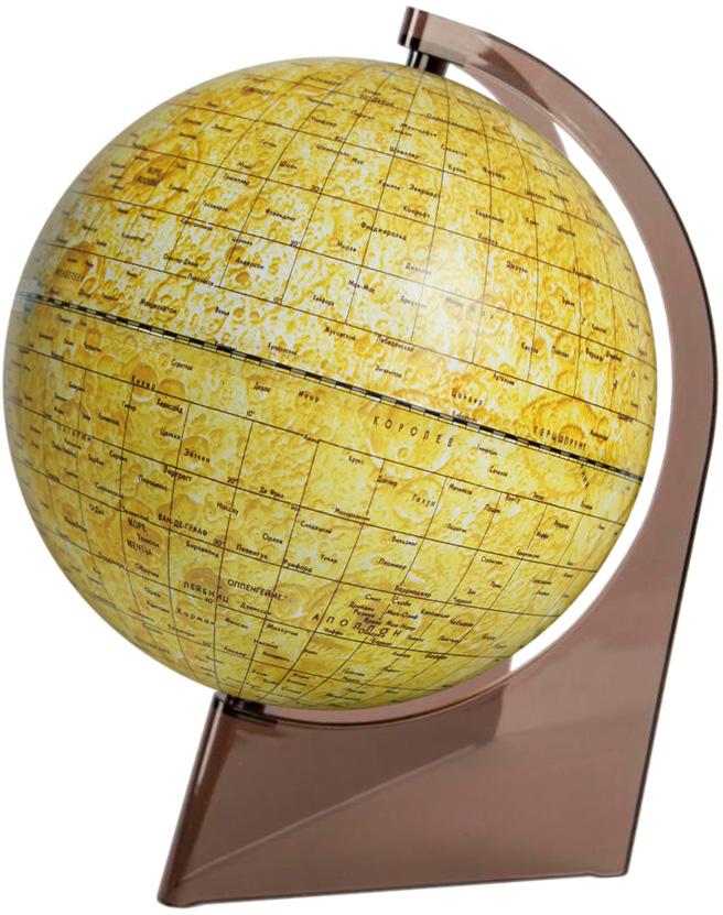 Глобусный мир Глобус Луны диаметр 21 см10242Глобус Луны Глобусный мир изготовлен из высококачественного и прочного пластика.Данная модель предназначена для ознакомления с географией лунной поверхности. На глобусе указаны названия лунных морей, крупных и средних кратеров, возвышенностей, места посадки космических аппаратов. Такой глобус станет прекрасным подарком и учебным материалом для дальнейшего изучения астрономии. Изделие расположено на пластиковой треугольной подставке. Настольный глобус Луны Глобусный мир станет оригинальным украшением рабочего стола или вашего кабинета. Это изысканная вещь для стильного интерьера, которая станет прекрасным подарком для современного преуспевающего человека, следующего последним тенденциям моды и стремящегося к элегантности и комфорту в каждой детали.Масштаб: 1:60 000 000.