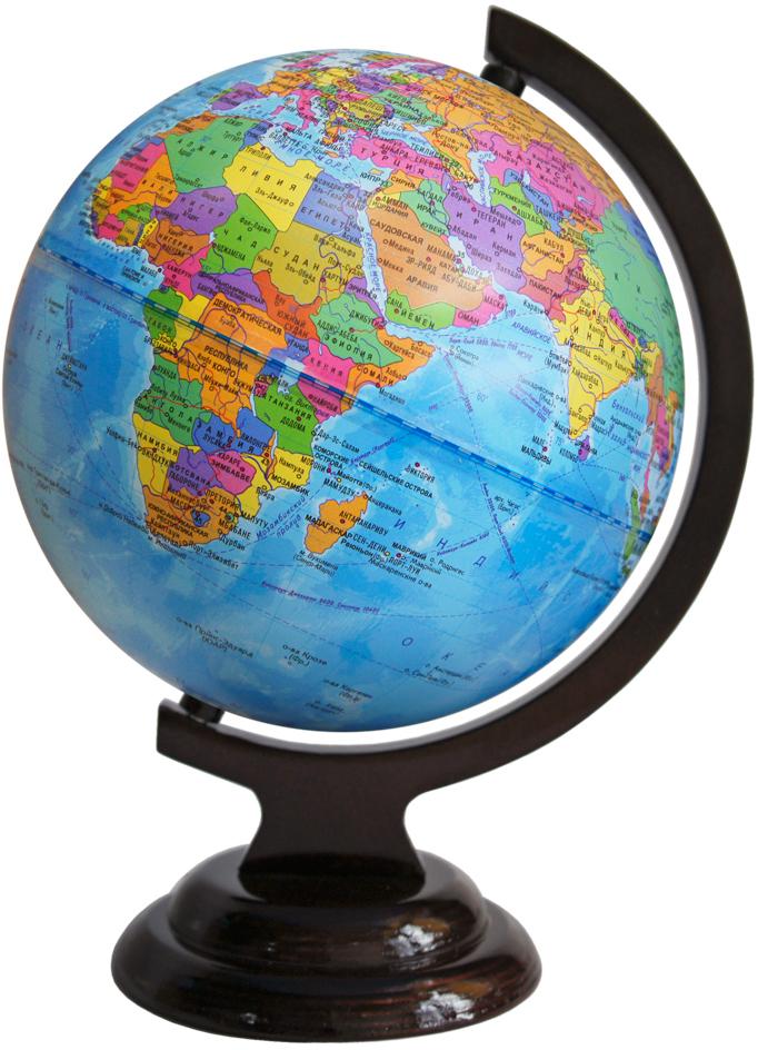 Глобусный мир Глобус с политической картой мира, диаметр 21 см10024Глобус с политической картой мира Глобусный мир, изготовленный из высококачественного прочного пластика, показывает страны мира, сухопутные и морские границы того или иного государства, расположение городов и населенных пунктов. Изделие расположено на красивой деревянной подставке, что придает этой модели подарочный вид. На нем отображены картографические линии: параллели и меридианы, а также градусы и условные обозначения. Каждая страна обозначена своим цветом. Глобус с политической картой мира станет незаменимым атрибутом обучения не только школьника, но и студента. Названия стран на глобусе приведены на русской язык.Настольный глобус Глобусный мир станет оригинальным украшением рабочего стола или вашего кабинета. Это изысканная вещь для стильного интерьера, которая станет прекрасным подарком для современного преуспевающего человека, следующего последним тенденциям моды и стремящегося к элегантности и комфорту в каждой детали.Масштаб: 1:60 000 000.