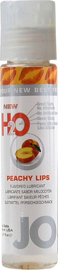 System JO Ароматизированный любрикант JO Flavored Peachy Lips, 30 мл system jo персональный любрикант на водной основе с экстрактом ромашки jo naturalove original 240 мл