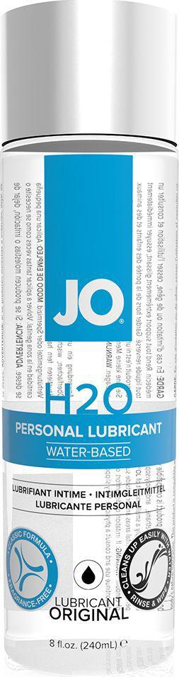 System JO Нейтральный любрикант на водной основе JO Personal Lubricant H2O, 240 млJO40036Нейтральный лубрикант на водной основе JO Personal Lubricant H2O - шелковистое долгое скольжение, никакой липкости. Рекомендуется во всем мире врачами и фармацевтами. Безопасен при использовании с латексными изделиями.