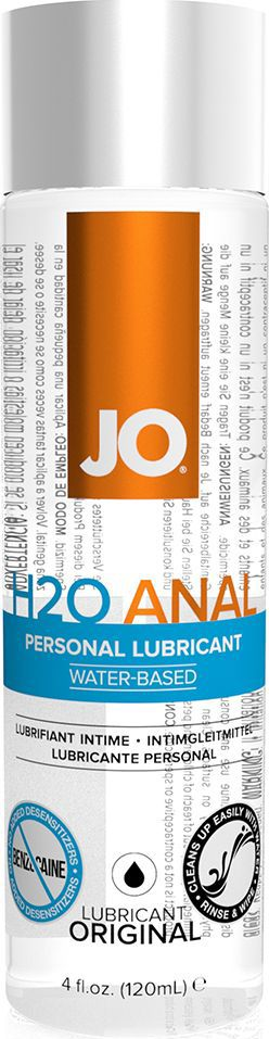 System JO Анальный любрикант на водной основе JO Anal H2O, 120 мл ароматизированный лубрикант jo flavored cherry burst 120 мл