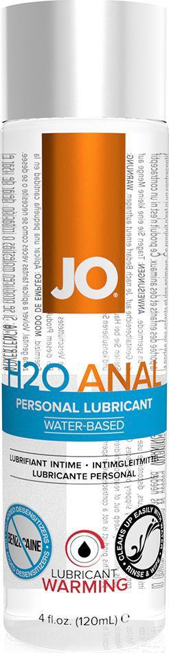 System JO Анальный согревающий любрикант обезболивающий на водной основе JO Anal H2O Warming, 120 мл system jo ароматизированный любрикант на водной основе jo flavored tropical passion 120 мл