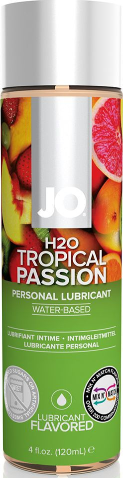 System JO Ароматизированный любрикант на водной основе JO Flavored Tropical Passion, 120 мл ароматизированный лубрикант jo flavored cool mint h2o 120 мл