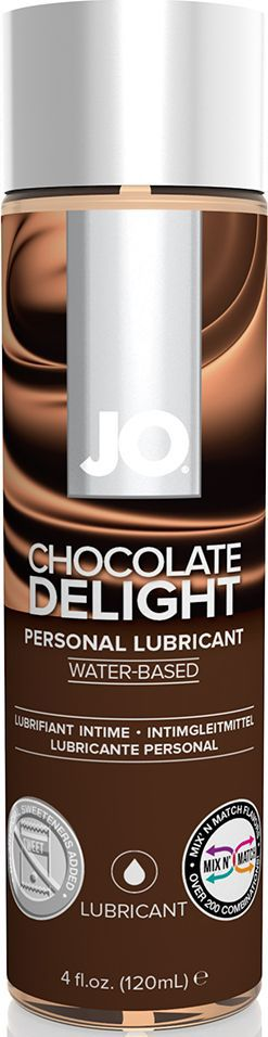 System JO Ароматизированный любрикант на водной основе JO Flavored Chocolate Delight, 120 мл ароматизированный лубрикант jo flavored tropical passion 120 мл